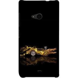 ifasho crocodile animated car Back Case Cover for Nokia Lumia 535