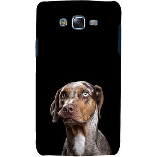 ifasho black Dog Back Case Cover for Samsung Galaxy J7