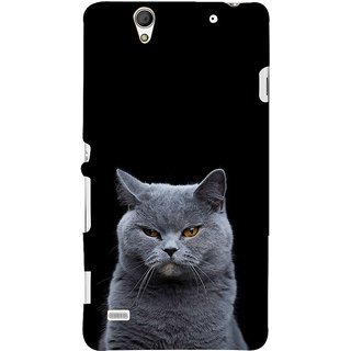 ifasho black Cat Back Case Cover for Sony Xperia C4