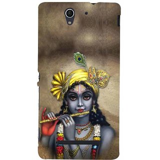 ifasho Lord Krishna with Flute Back Case Cover for Sony Xperia C3 Dual