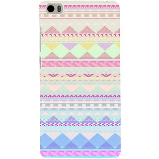 ifasho multi color 3Diangular Pattern Back Case Cover for Redmi Mi5