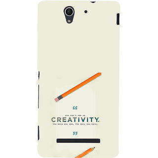 ifasho quotes on creativity Back Case Cover for Sony Xperia C3 Dual