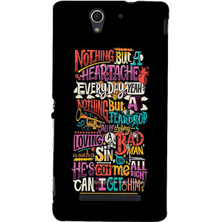 ifasho Love Quotes Back Case Cover for Sony Xperia C3 Dual
