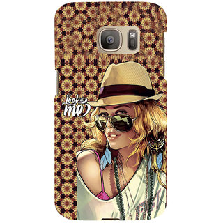 ifasho Look at me Girl Back Case Cover for Samsung Galaxy S7 Edge