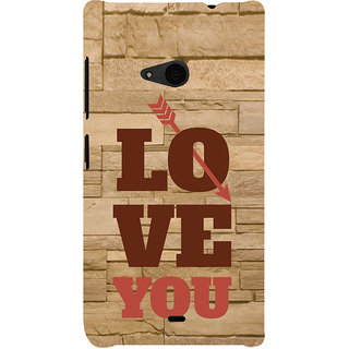 ifasho Quote On Love you and me Back Case Cover for Nokia Lumia 535