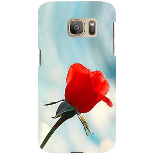 ifasho Red Rose Back Case Cover for Samsung Galaxy S7 Edge