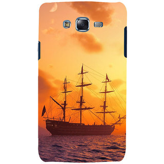 ifasho Ship in See at sunset Back Case Cover for Samsung Galaxy J5
