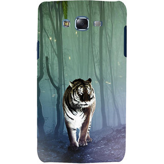 ifasho Animated Pattern With Tiger Back Case Cover for Samsung Galaxy J7