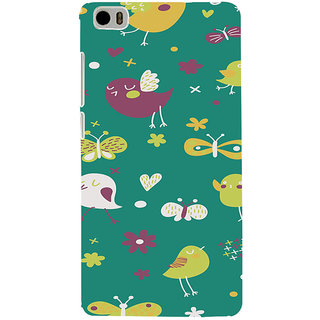 ifasho Animated Pattern birds and butterfly Back Case Cover for Redmi Mi5