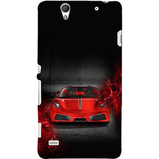 ifasho Stylish RED Car Back Case Cover for Sony Xperia C4