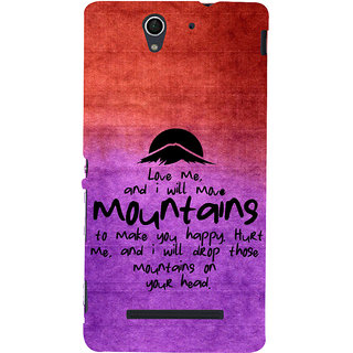 ifasho Love Quotes for love Back Case Cover for Sony Xperia C3 Dual
