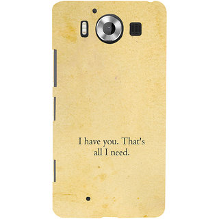 ifasho I have you thats all I need Back Case Cover for Nokia Lumia 950
