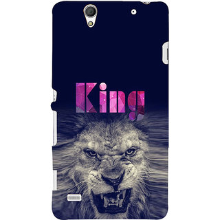ifasho Angry Lion King Back Case Cover for Sony Xperia C4