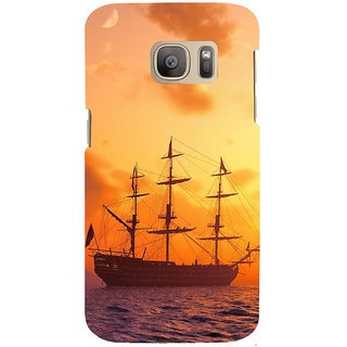 ifasho Ship in See at sunset Back Case Cover for Samsung Galaxy S7 Edge