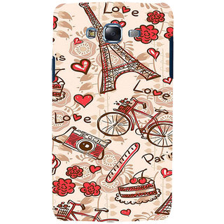 ifasho Modern Art Design Pattern Bicycle camera cake tower Back Case Cover for Samsung Galaxy J7