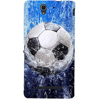 ifasho Foot ball Back Case Cover for Sony Xperia C3 Dual