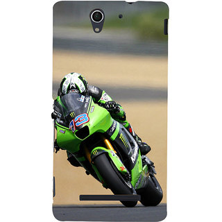 ifasho Sports Bike Back Case Cover for Sony Xperia C3 Dual