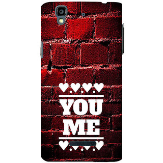 ifasho Quote On Love you and me Back Case Cover for YU Yurekha