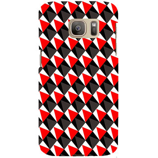 ifasho Colour Full 3Diangle inside Square Pattern Back Case Cover for Samsung Galaxy S7 Edge