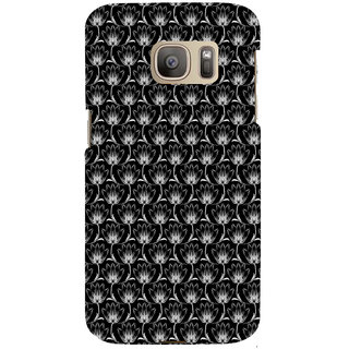 ifasho Animated Pattern black and white many lotus flower Back Case Cover for Samsung Galaxy S7 Edge