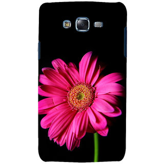 ifasho Flower Design Pink flower in black background Back Case Cover for Samsung Galaxy J7 (2016)