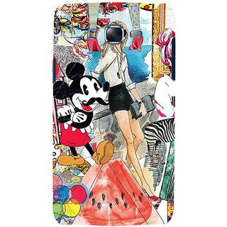 ifasho Modern Art Design Pattern girl shop car food bird Back Case Cover for Samsung Galaxy J7