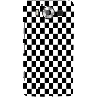 ifasho Squre and Checks In black and white Pattern Back Case Cover for Nokia Lumia 950