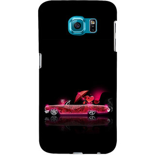 ifasho heart riding animated car Back Case Cover for Samsung Galaxy S6 Edge Plus