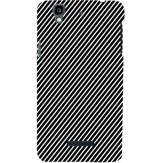 ifasho Design lines pattern Back Case Cover for YU Yurekha