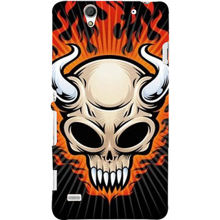 ifasho Modern  Design animated skeleton Back Case Cover for Sony Xperia C4