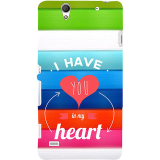 ifasho I have you in my heart Back Case Cover for Sony Xperia C4