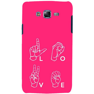 ifasho Animated Pattern With Love alphabets in finger Back Case Cover for Samsung Galaxy J7