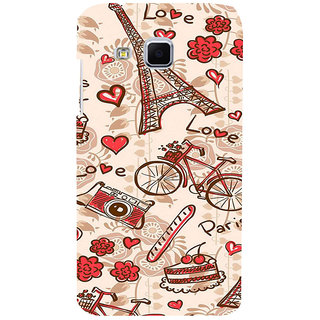 ifasho Modern Art Design Pattern Bicycle camera cake tower Back Case Cover for Samsung Galaxy J3