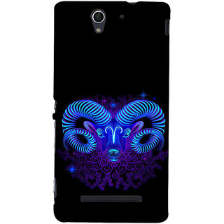 ifasho zodiac sign capricorn Back Case Cover for Sony Xperia C3 Dual