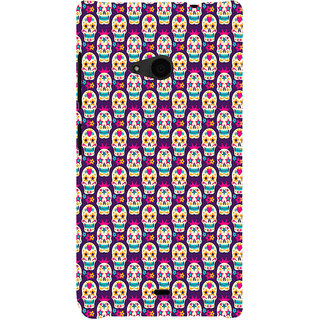ifasho Modern  Design animated skeleton Pattern Back Case Cover for Nokia Lumia 535
