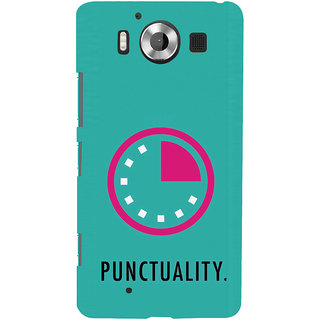 ifasho Puncutality Back Case Cover for Nokia Lumia 950