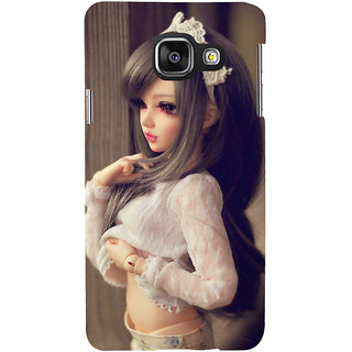 ifasho Winking Girl with Muflor Back Case Cover for Samsung Galaxy A3 A310 (2016 Edition)