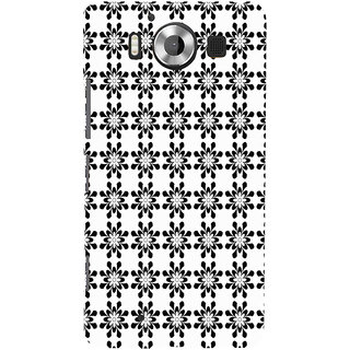 ifasho Animated Pattern design black and white flower in royal style Back Case Cover for Nokia Lumia 950