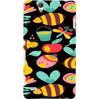 ifasho Animated Pattern colrful flower and butterfly Back Case Cover for Sony Xperia C4