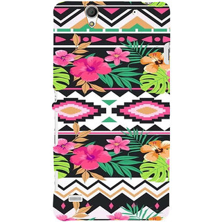 ifasho Animated Pattern colrful design flower with 3Daditional design Back Case Cover for Sony Xperia C4