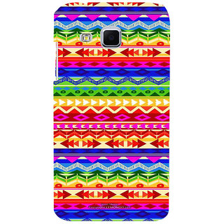 ifasho multi color 3Diangular and circle Pattern Back Case Cover for Samsung Galaxy J3