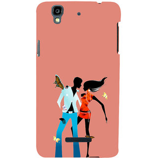 ifasho Boy and girl dancing Back Case Cover for YU Yurekha