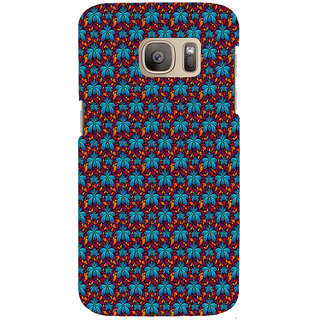 ifasho Animated Pattern design flower with leaves Back Case Cover for Samsung Galaxy S7 Edge