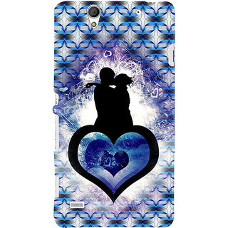 ifasho couple kissing Back Case Cover for Sony Xperia C4