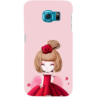 ifasho Princess Girl Back Case Cover for Samsung Galaxy S6 Edge Plus