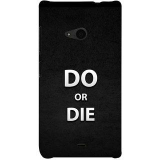 ifasho Do or die Back Case Cover for Nokia Lumia 535