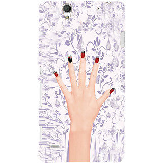 ifasho girl finger with nail polish design Back Case Cover for Sony Xperia C4