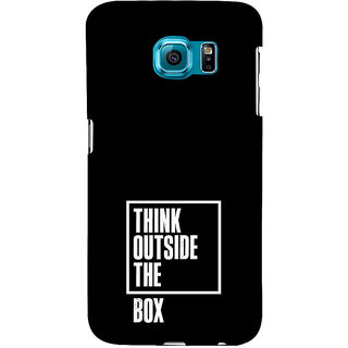ifasho Think Out of Box Back Case Cover for Samsung Galaxy S6