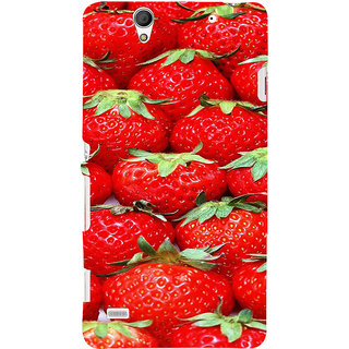 ifasho Modern  Design Pattern S3Dwberry wall paper Back Case Cover for Sony Xperia C4