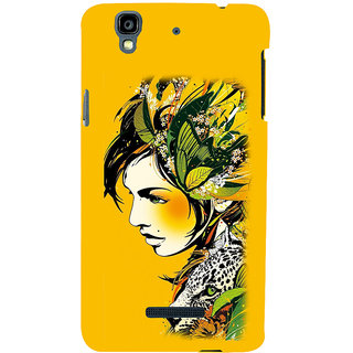 ifasho Jungle girl Back Case Cover for YU Yurekha